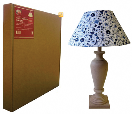 45cm Coolie Lampshade Making Kit (Duplex Fitting)